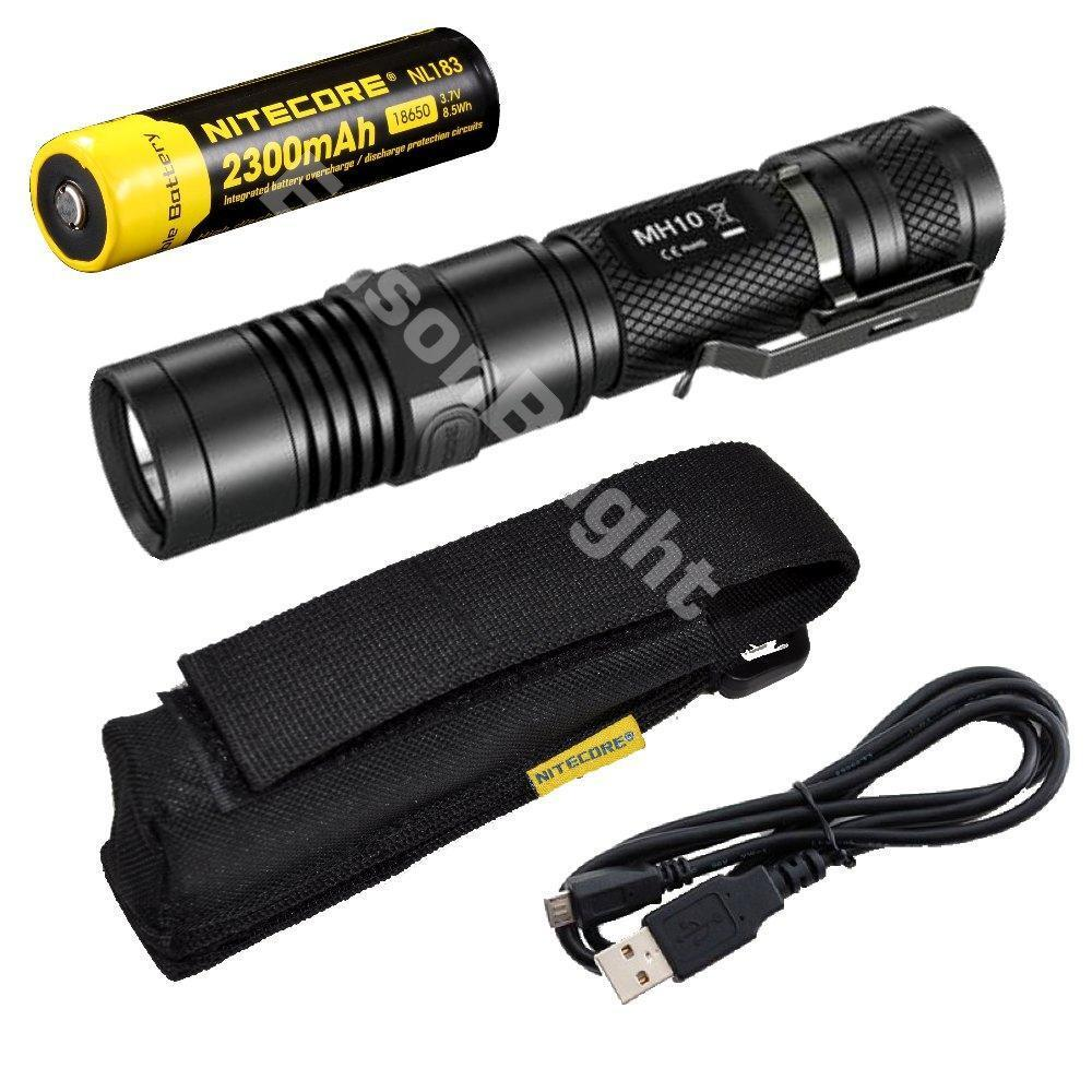 new nitecore mh10 cree led 1000 lumen usb rechargeable flashlight with holster ebay. Black Bedroom Furniture Sets. Home Design Ideas