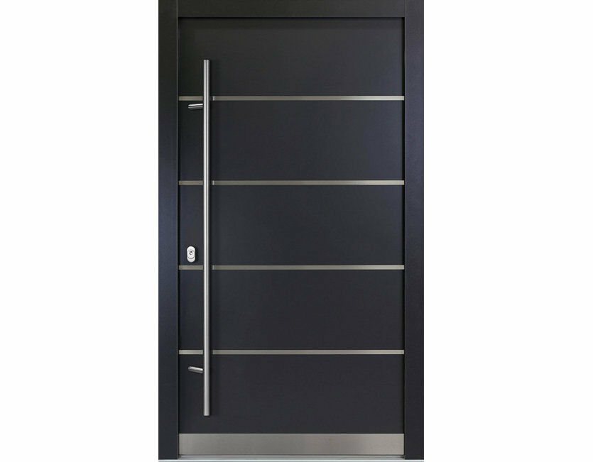 aluminium haust r wei anthrazitgrau modell carlo. Black Bedroom Furniture Sets. Home Design Ideas