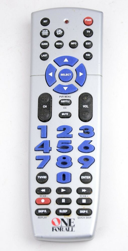 Euc one for all urc3220 3 device universal remote control for 1000 in 1 universal a c remote code table