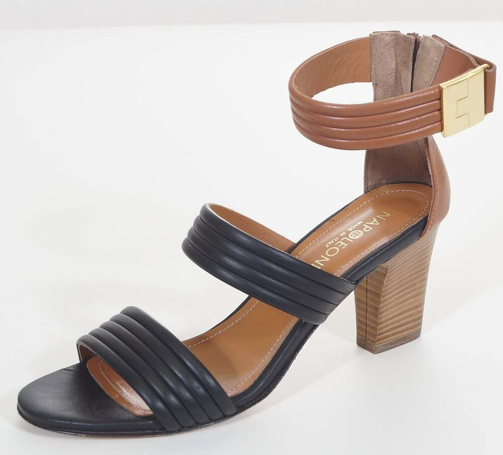 Perfect  Womens Size 75 Brown Narrow Faux Leather Dress Sandals Shoes  EBay