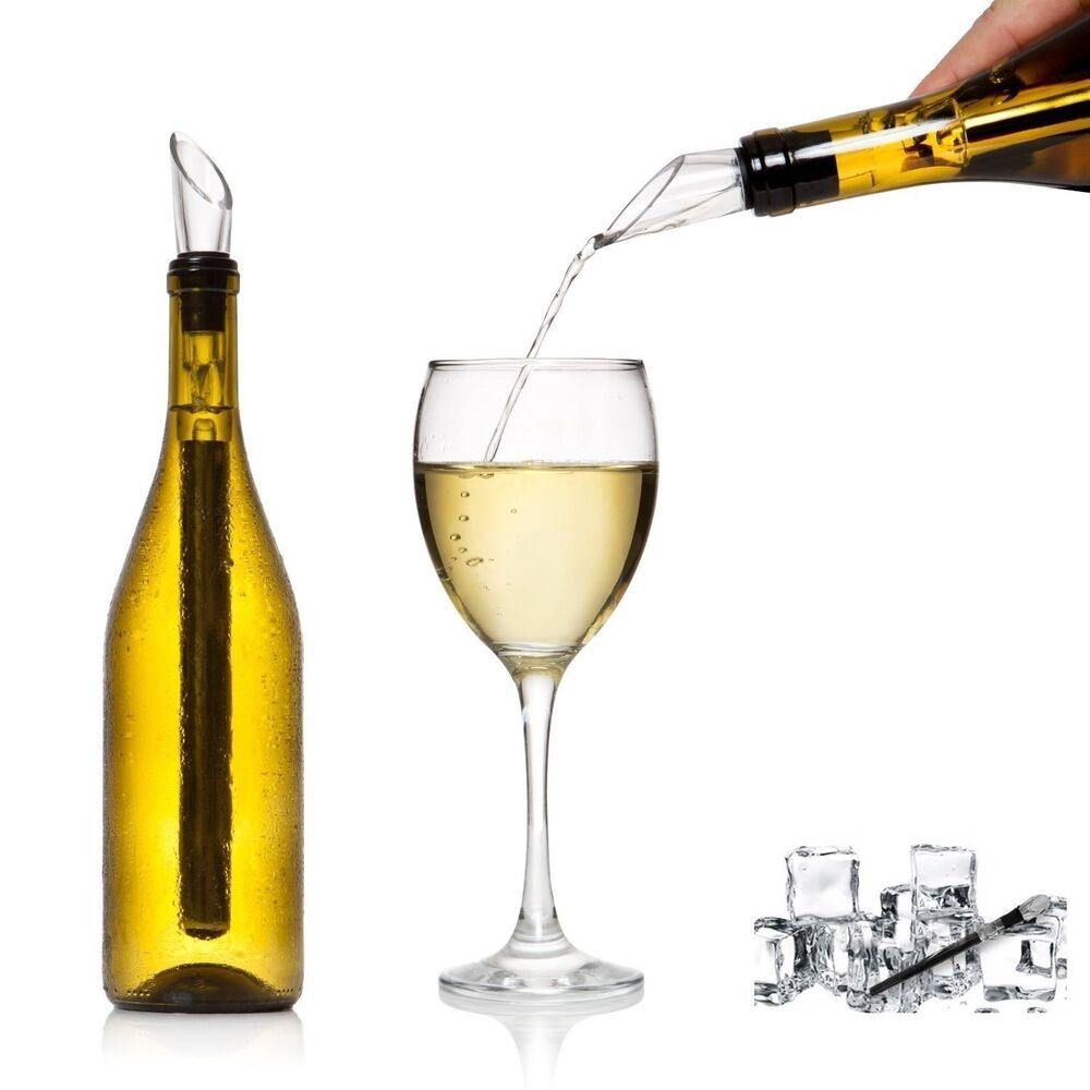 Wine Stainless Steel Chiller Chill Stick Ice Cold Pourer