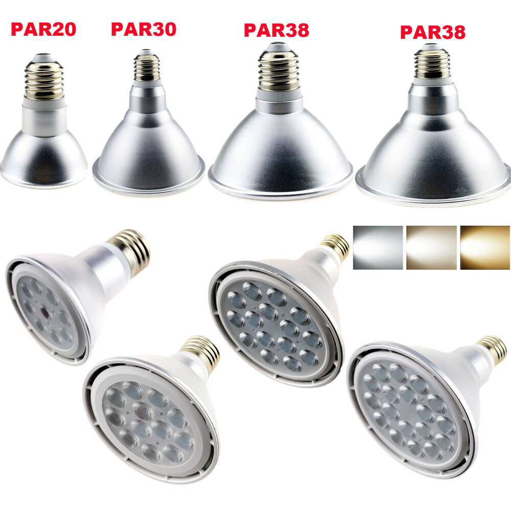 Led Spotlight Light Bulbs: Dimmable E26 E27 E14 LED SpotLight Bulb PAR20 PAR30 PAR38