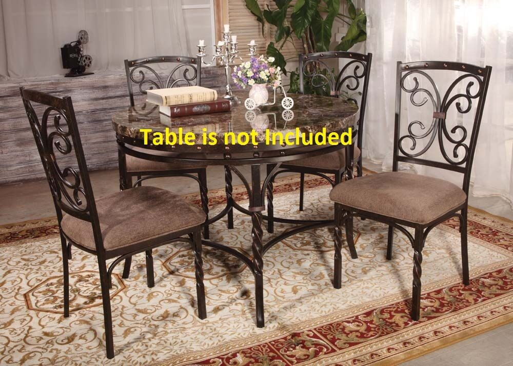 Kitchen dining room modern metal framed dining chairs for Dining room chair set