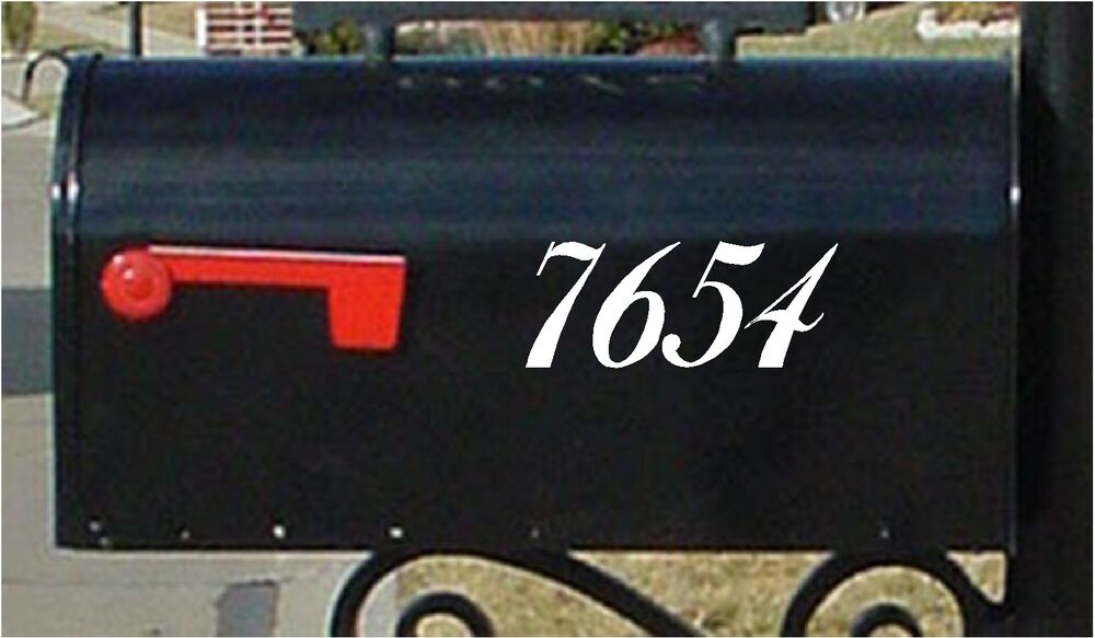 2 5 Quot Mailbox Numbers Set Of 2 Numbers Custom Mailbox