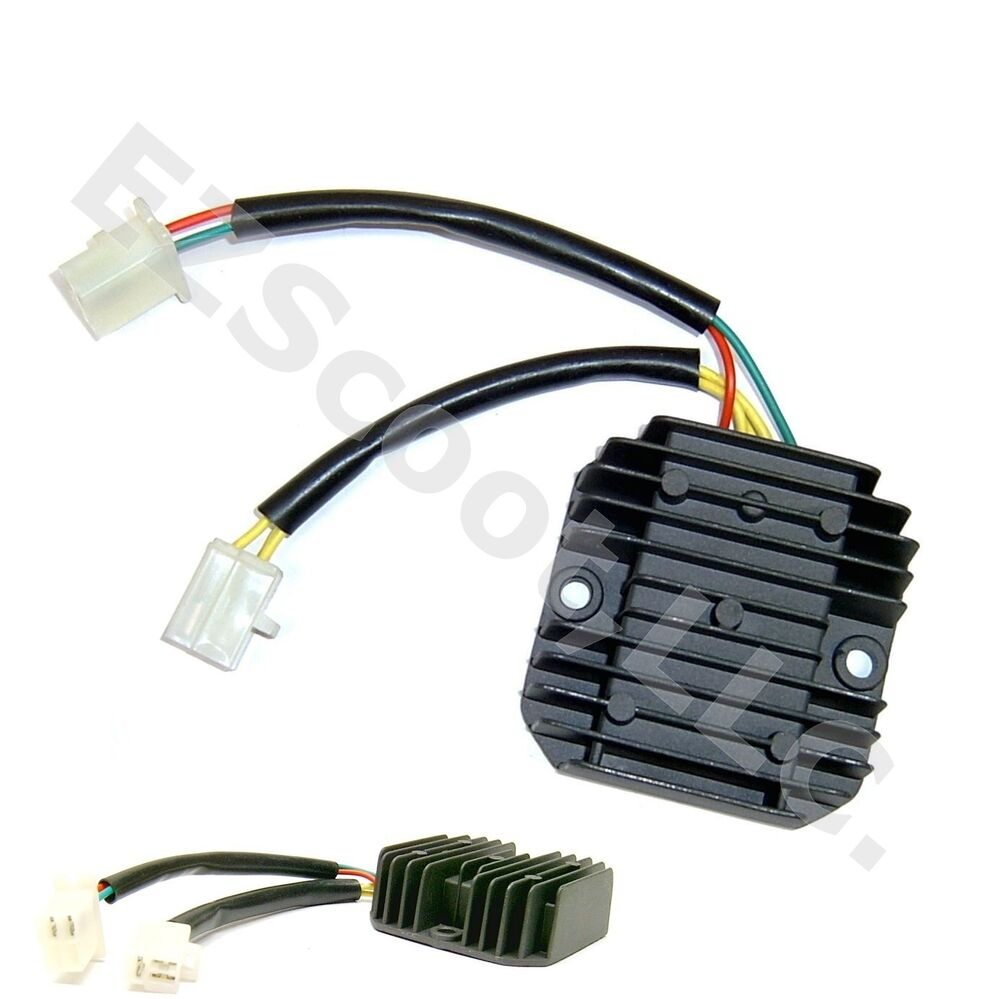 oem voltage regulator rectifier 12v 5 pin 50 250cc gy6 4. Black Bedroom Furniture Sets. Home Design Ideas