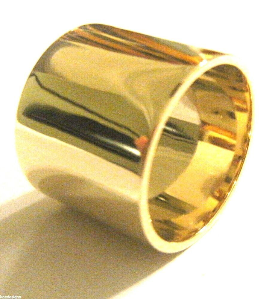 Genuine New 9kt 9ct Yellow Gold 375 Full Solid 15mm