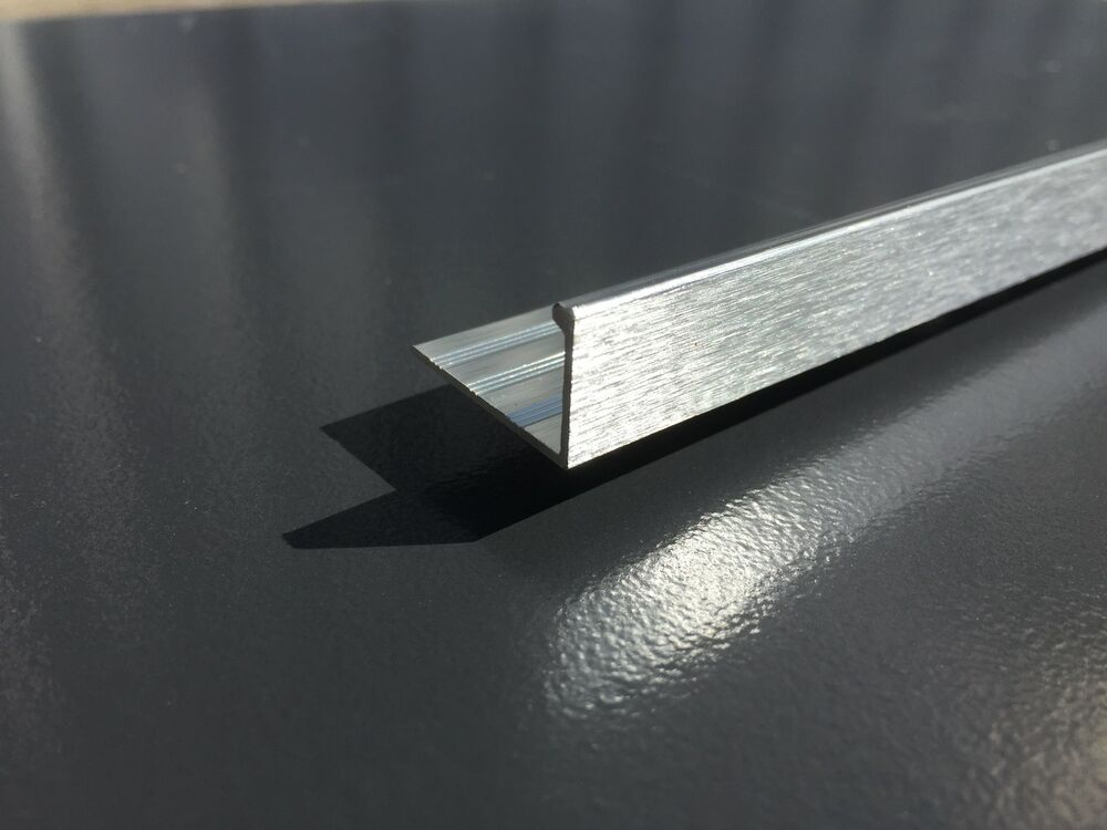 Brushed Effect Straight Edge Aluminium Tile Trim 2 5m