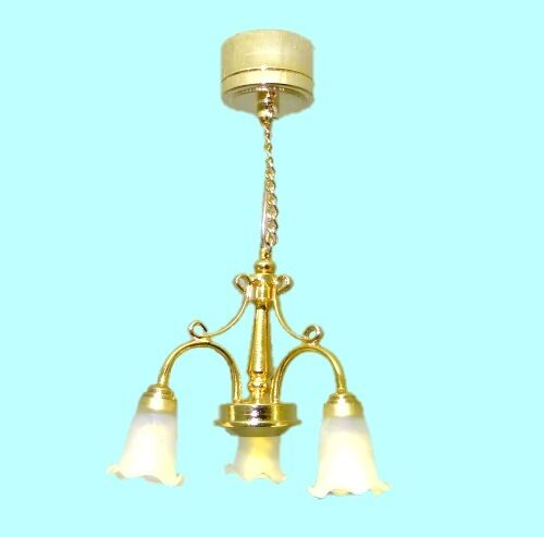 working three arm brass chandelier battery operated 1 12. Black Bedroom Furniture Sets. Home Design Ideas