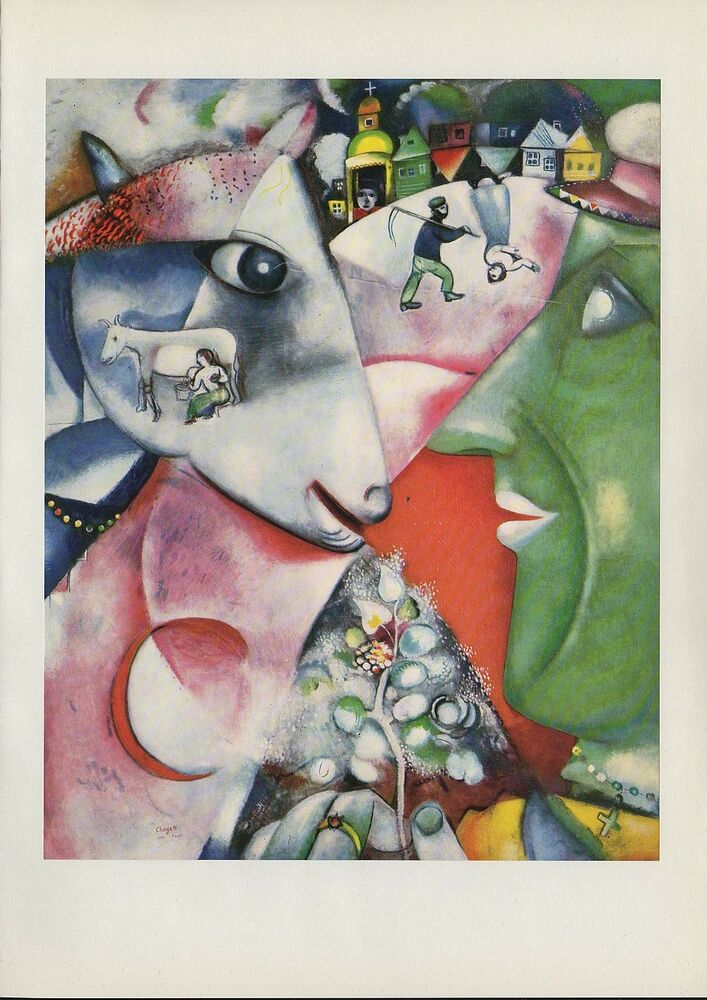 "1963 Vintage ""I AND THE VILLAGE, 1911"" MARC CHAGALL COLOR ..."