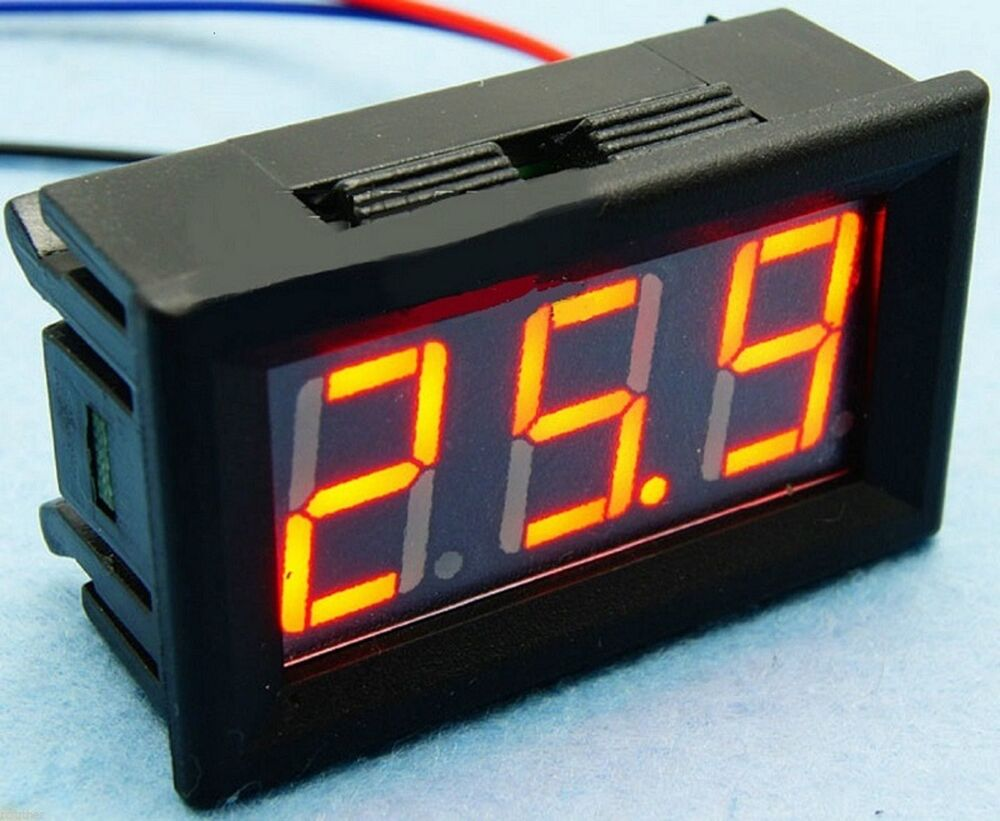 Rv Battery Voltage Gauge : Golf cart boat rv battery red led charge meter chart