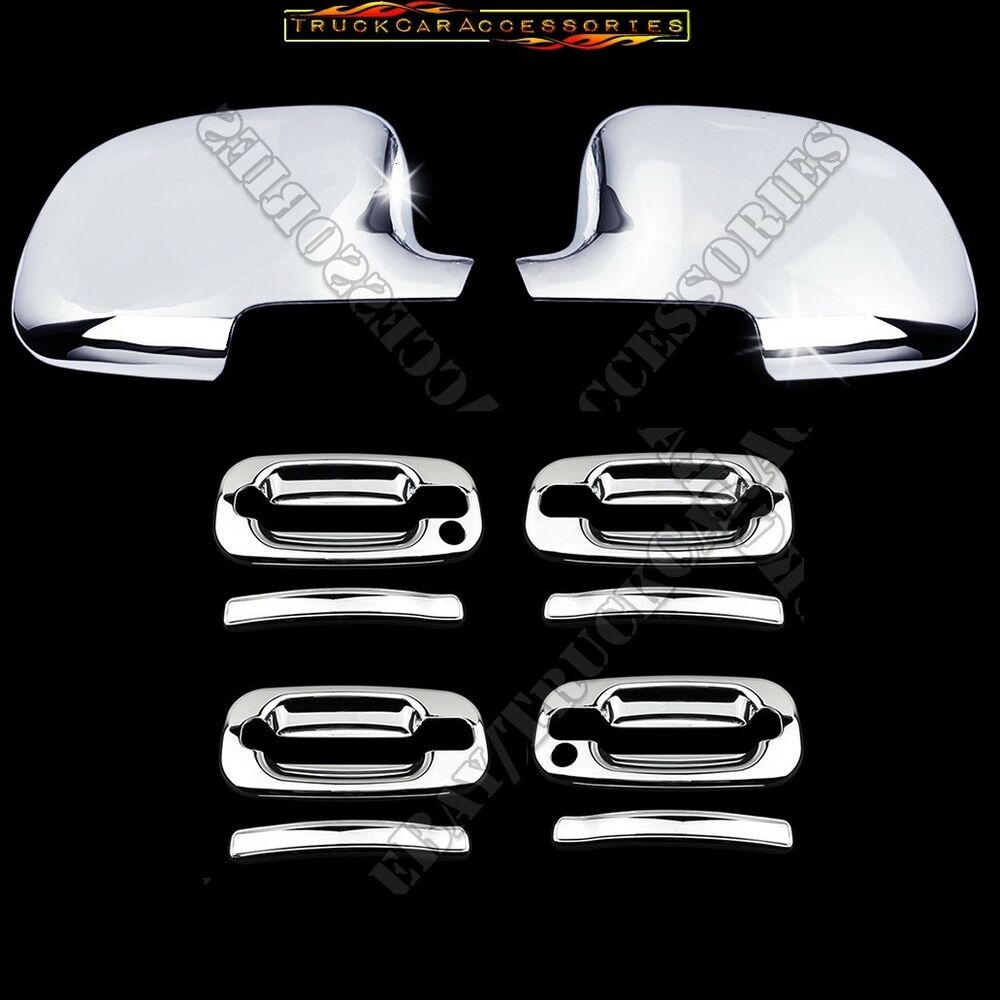 Used Cadillac Escalade Parts For Sale: For CADILLAC Escalade 2002-2006 Chrome Covers Full Mirrors Door Handles Keyhole