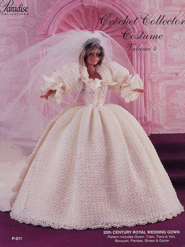 20th Century Royal Wedding Gown Princess Di For Barbie