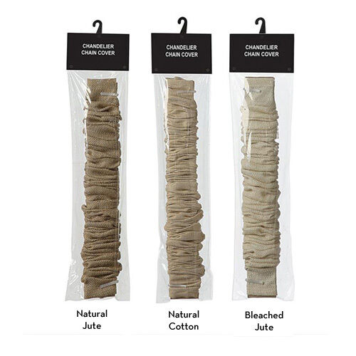 6 39 cotton or jute chandelier cover pendant cord cover chain cover ebay. Black Bedroom Furniture Sets. Home Design Ideas