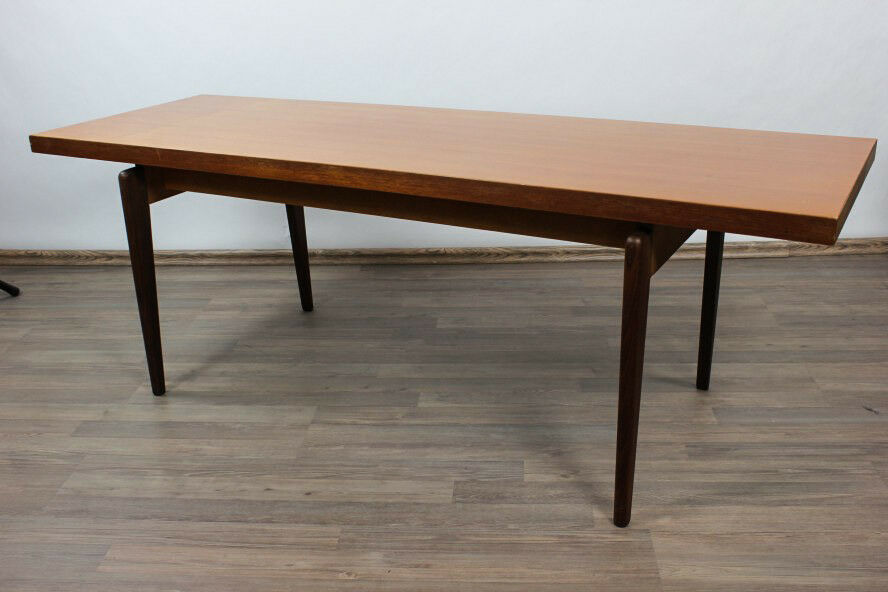 couch tisch teak holz thonet 150 x 50 cm x 52 cm coffee table vintage 60er jahre ebay. Black Bedroom Furniture Sets. Home Design Ideas