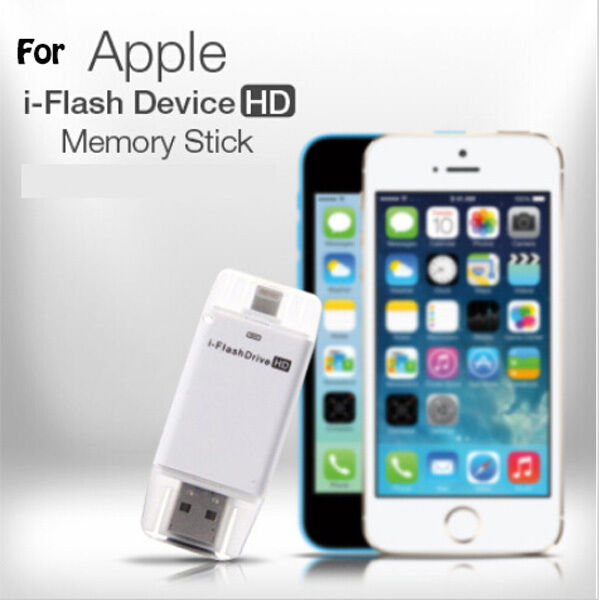 usb i flash drive hd micro sd memory card reader adapter for iphone 5 5s 6 ipad ebay. Black Bedroom Furniture Sets. Home Design Ideas