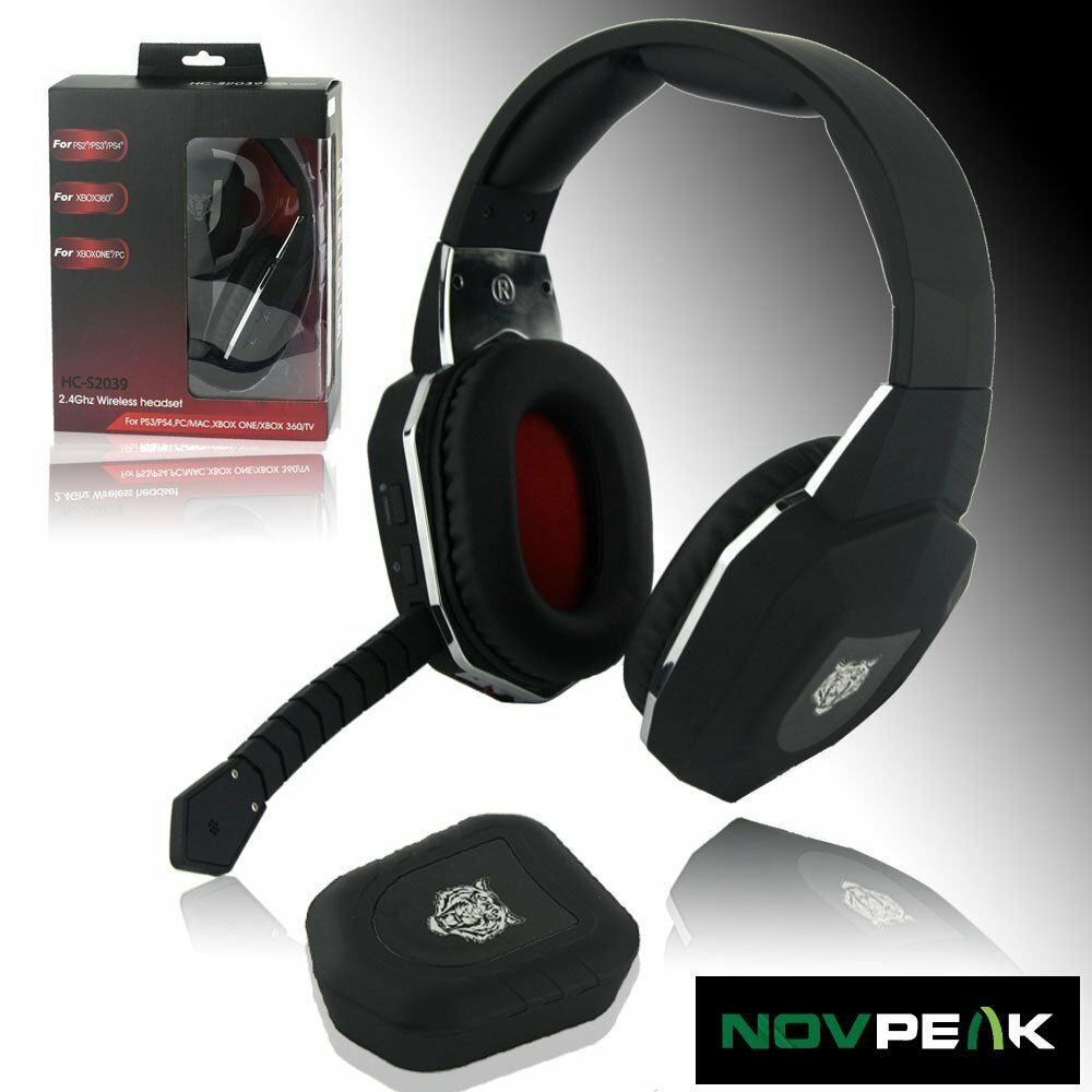 wireless gaming headphones headset for xbox one 360 ps3 ps4 mac pc computer tv ebay. Black Bedroom Furniture Sets. Home Design Ideas