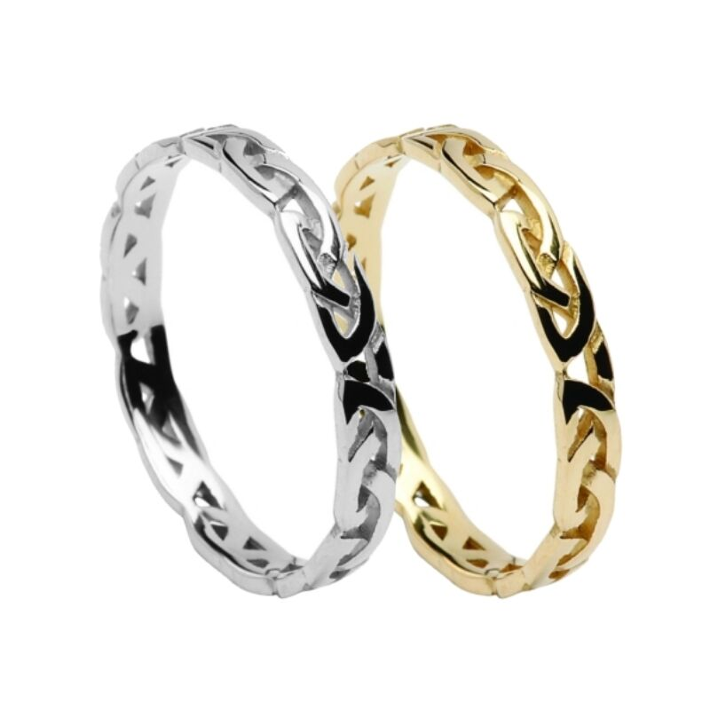 solid 10ct gold celtic eternal knot 3 4mm wedding
