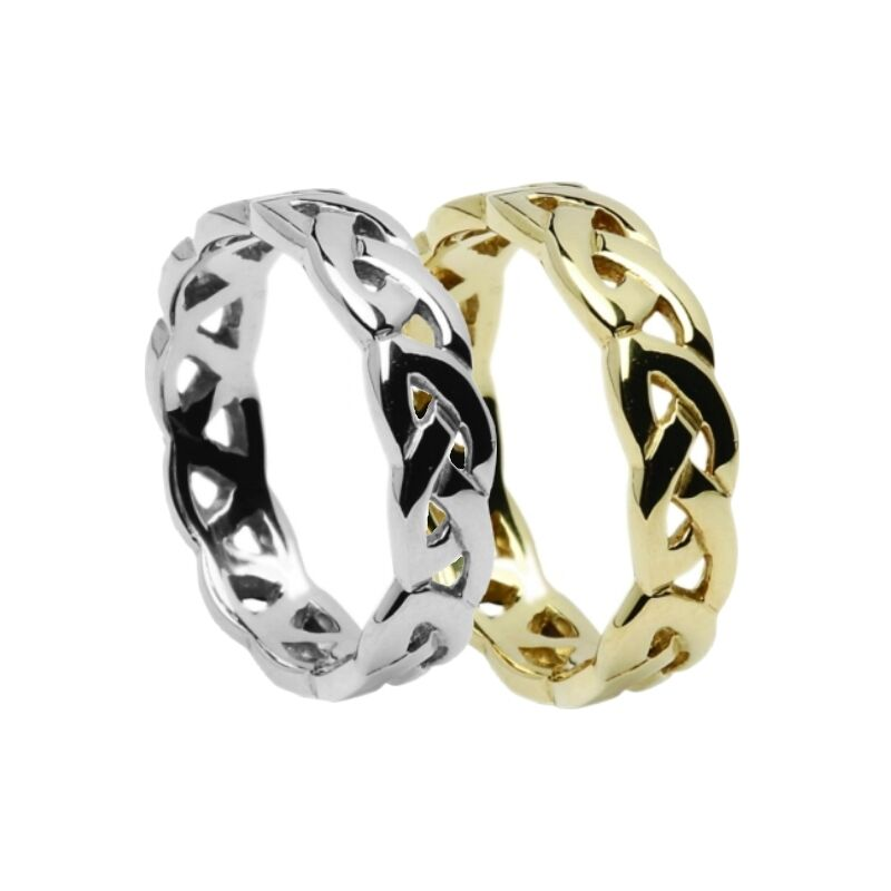 solid 10ct gold celtic eternal knot 4 9mm wedding