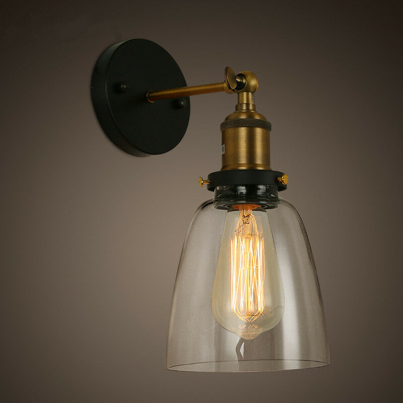 new diy loft industrial vintage wall lamps glass lamp