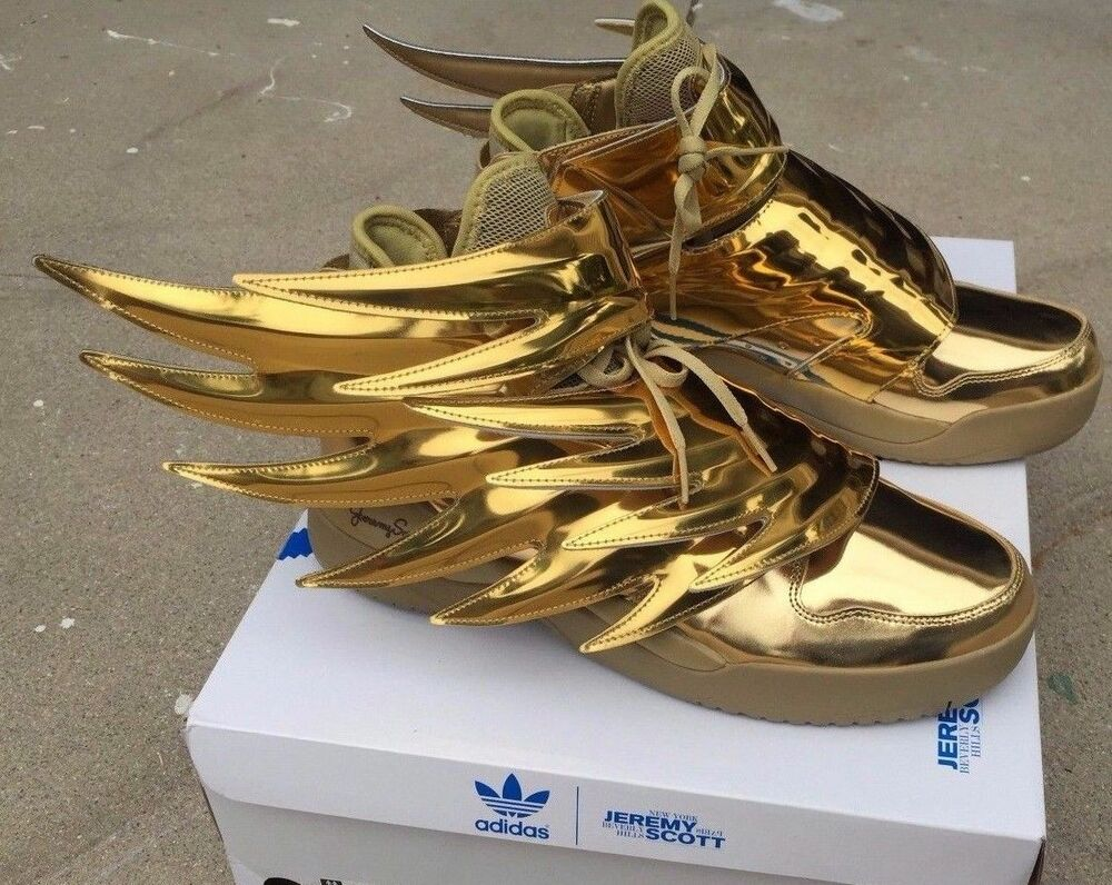 ADIDAS JEREMY SCOTT WINGS 3.0 METALLIC GOLD BATMAN SHOES SZ 4-14 100%  AUTHENTIC | eBay