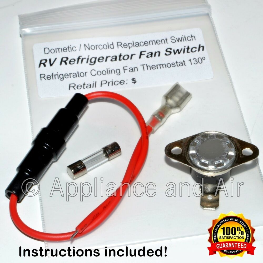 Norcold Fan Switch Fuse Refrigerator Cooling Fan