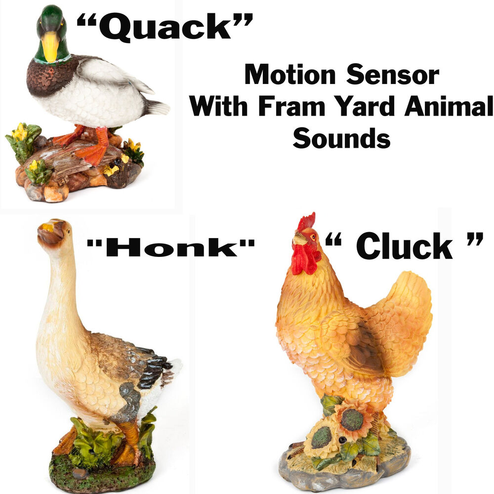 Large decorative ornamental garden motion sensor with for Animal decoration