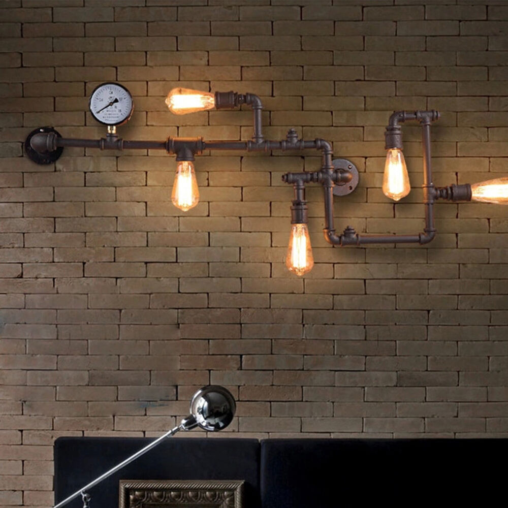 NEW Industrial Steampunk Wall Lamp Retro Wall Light Rustic