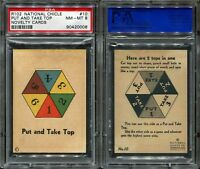 1930s R102 Novelty #10 Put and Take Top PSA 8 NM-MT