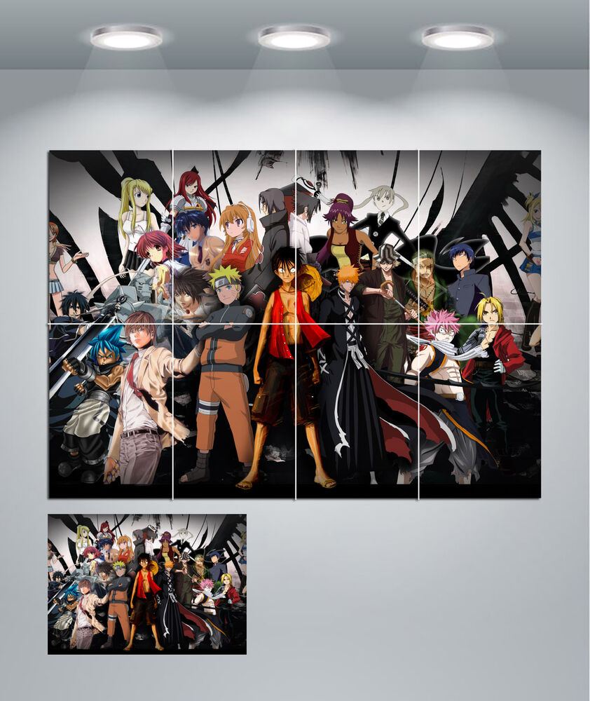 anime manga giant wall art poster print ebay. Black Bedroom Furniture Sets. Home Design Ideas