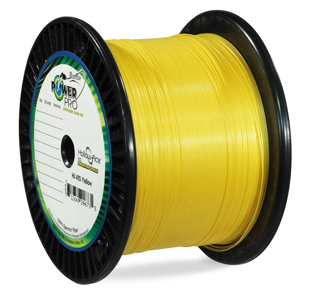 Powerpro hollow ace braided line 60lb 500yd hi vis yellow for Power pro braided fishing line