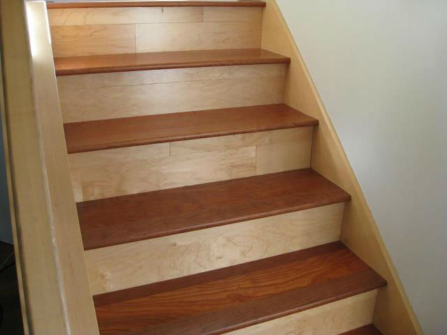 stair tread solid wood unfinished bullnose multiple sizes and species available ebay. Black Bedroom Furniture Sets. Home Design Ideas