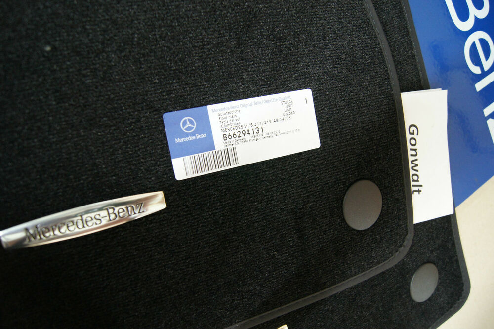 mercedes benz cls550 cls63 amg black carpet floor mats 66294131 oem. Cars Review. Best American Auto & Cars Review