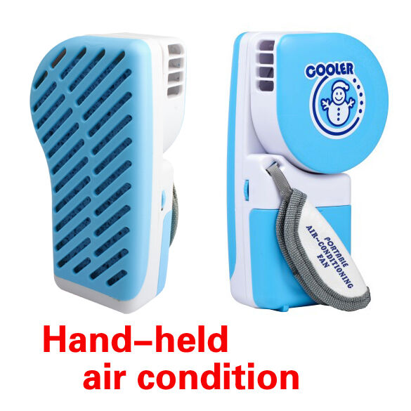 Portable Handheld Fan : Mini usb portable rechargeable hand held air conditioner