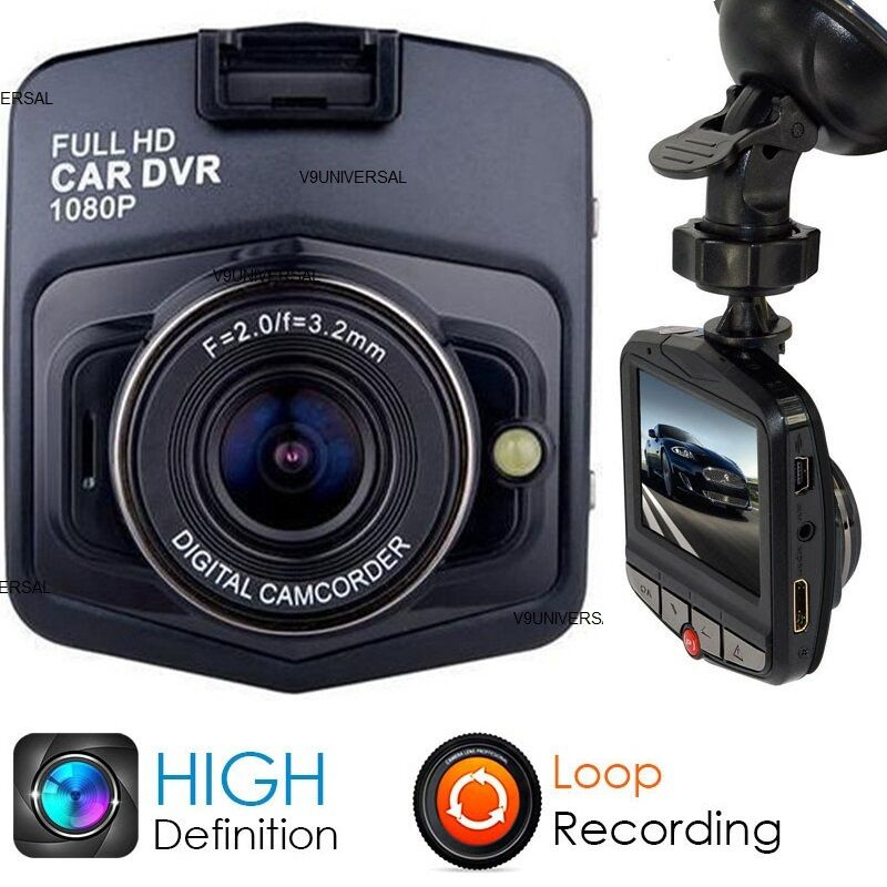hd 1080p in car dvr camera dash cam video recorder black. Black Bedroom Furniture Sets. Home Design Ideas