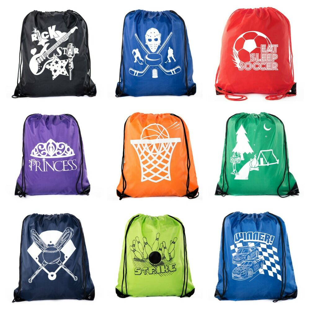 goodie bags for kids drawstring gift bags with logo for. Black Bedroom Furniture Sets. Home Design Ideas