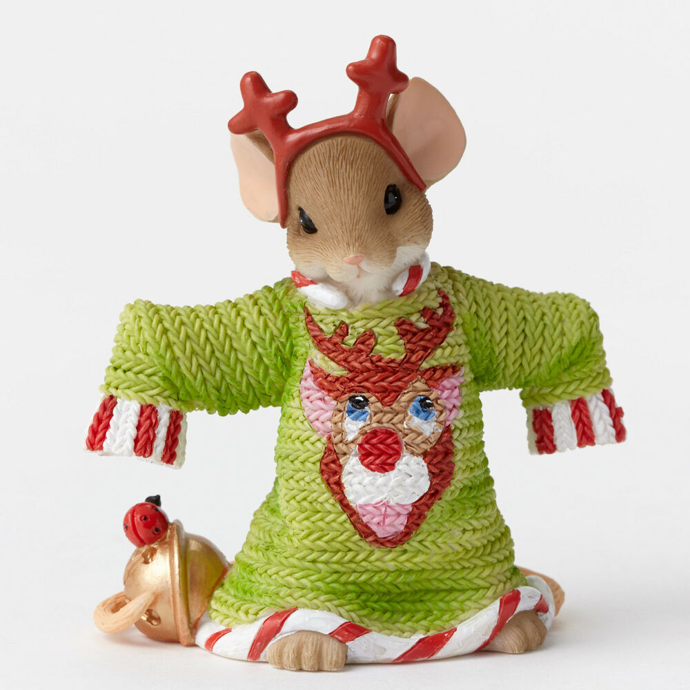 Charming Tails Such a Deer Ugly Green Sweater Mouse ...