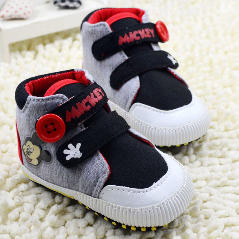 Baby Boy s Mickey Mouse Crib Shoes Soft soles sneakers