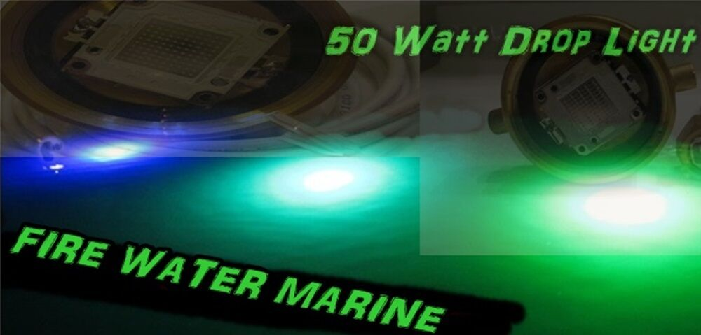 50w 4000 lumen led underwater drop light boat dock pier. Black Bedroom Furniture Sets. Home Design Ideas