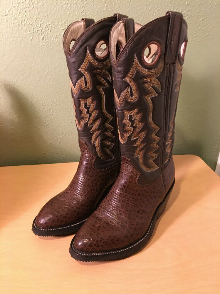 Creative Vintage Cowboy Boots Womens 8 M B Brown Western Embroidered
