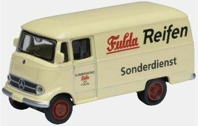 schuco 1955 mercedes benz l319 van fulda beige 1 87 ho scale diecast model new ebay. Black Bedroom Furniture Sets. Home Design Ideas