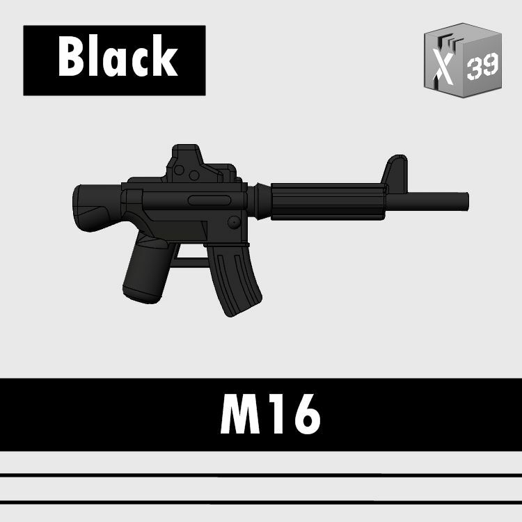 Custom Assault Rifle M16A4 Gun Compatible With LEGO