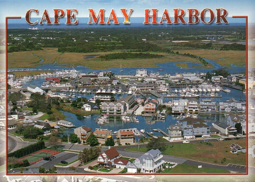 Cape May Harbor New Jersey, Aerial View of Marina, Shops ...