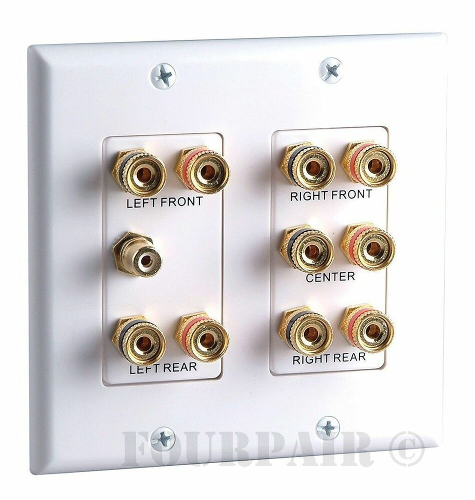 home wiring wall plate 5 1 surround    home    theater speaker    wall       plate    banana  5 1 surround    home    theater speaker    wall       plate    banana