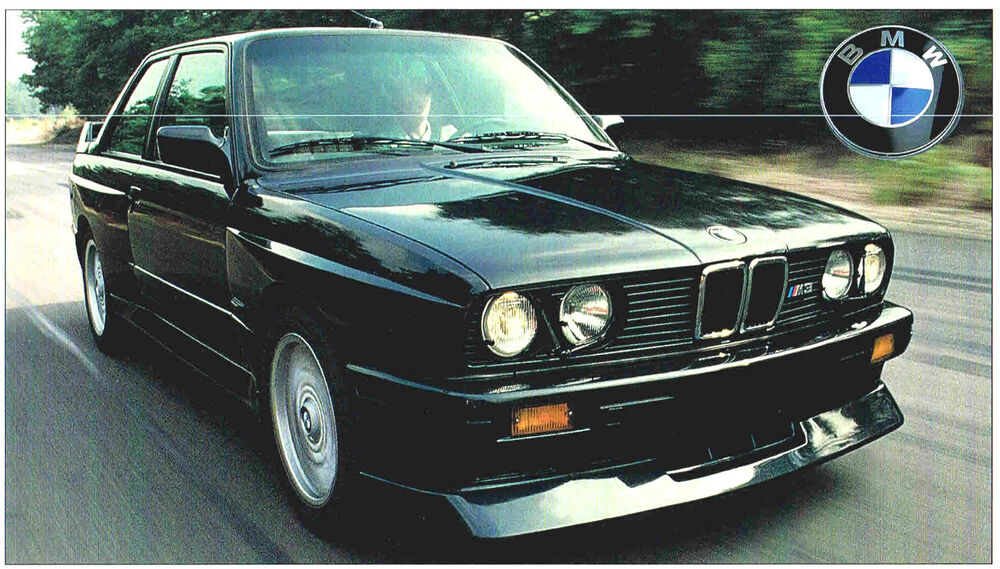 bmw m3 m 3 spec sheet brochure 1987 1988 1989 1990 ebay. Black Bedroom Furniture Sets. Home Design Ideas