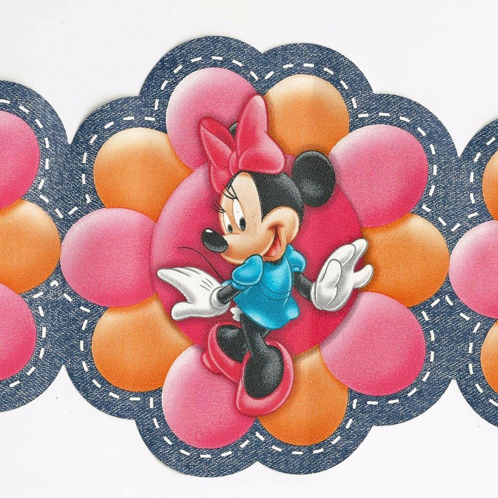 Minimouse Wallpaper: Disney's Minnie Mouse & Funky Modern Flowers