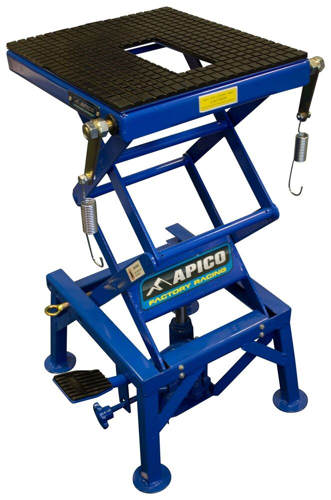 Hydraulic Motorcycle Stand : Apico motocross enduro mx motorcycle workshop hydraulic