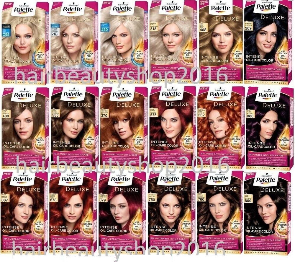Palette Deluxe Color Creme Hair Colour Permanent Hair Dye 18 Different Shades Ebay