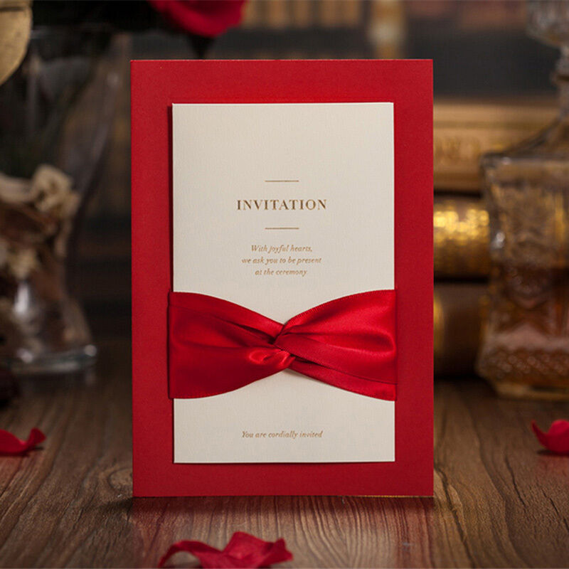 50 Wedding Invitation Cards With Envelopes, Seals, Custom