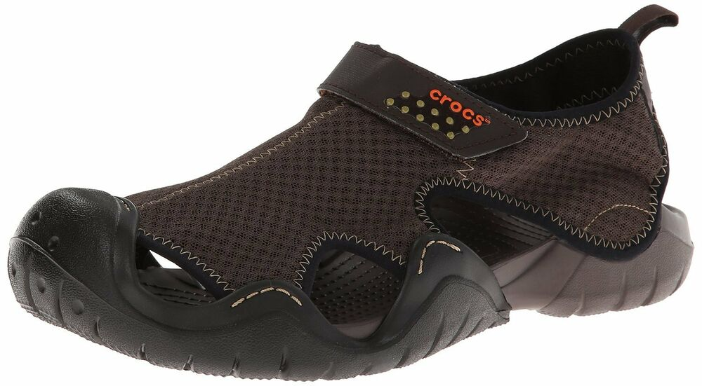 crocs amazon shoes swiftwater sandal espresso sandals fit water mens summer footwear box today light comfort
