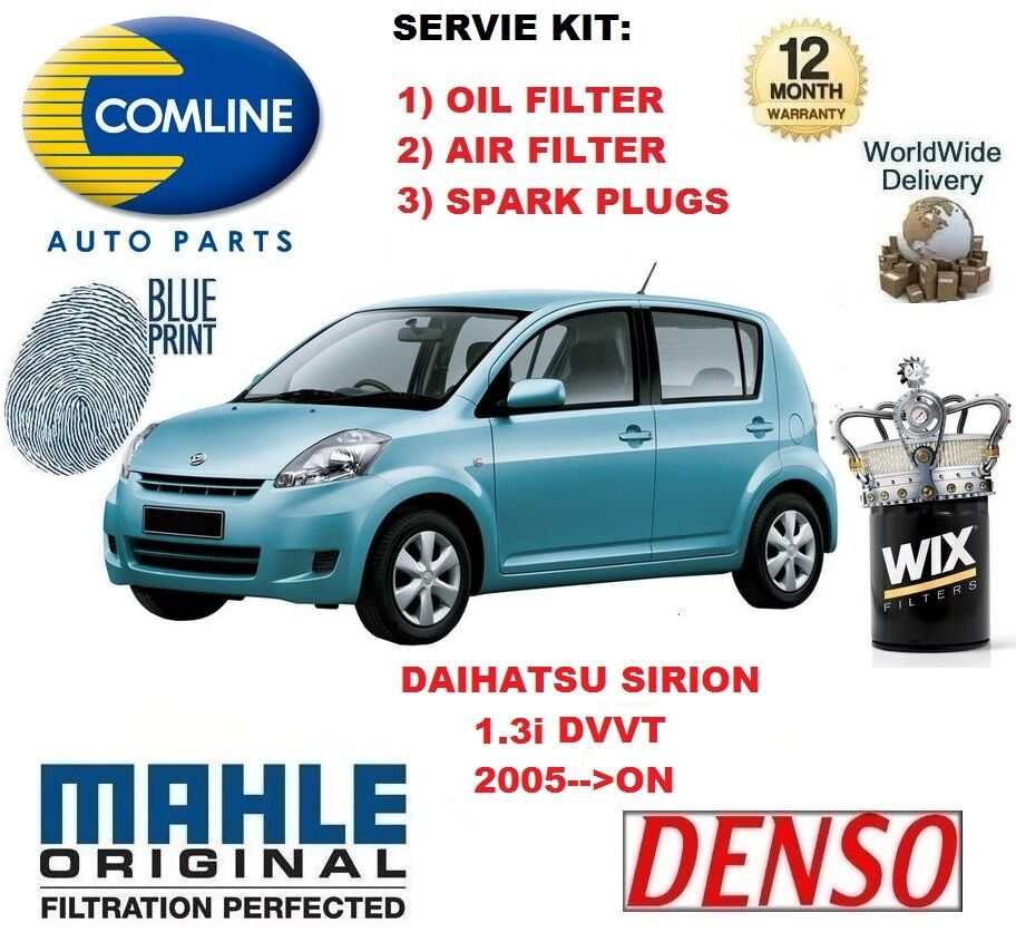 Turbo Kit Daihatsu: FOR DAIHATSU SIRION 1.3 DVVT 2005 >ON OIL AIR FILTER